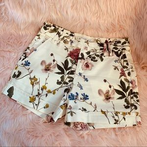 Anthropologie Floral Shorts